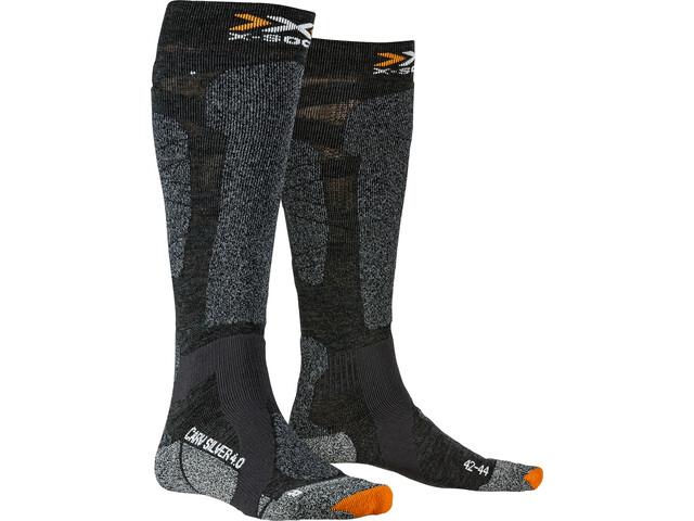 X-Socks Carve Silver 4.0 Chaussettes, anthracite melange/black melange